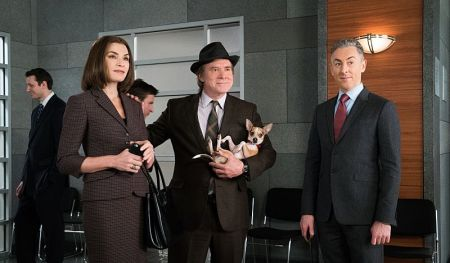 Tom the dog steals every scene in Season 7 of The Good Wife.